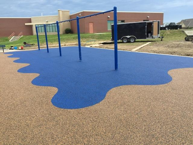 Rubber playground surface